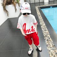 男童夏装新款套装夏季童装中大童韩版帅气儿童短袖两件套
