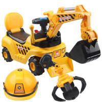儿童玩具挖掘机大号可坐可骑挖土机男孩音乐学步工程汽车铲车勾机