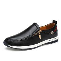 秋冬男鞋休闲皮鞋真皮运动鞋男英伦潮男青年拉链板鞋皮鞋男