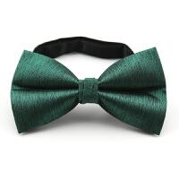 英伦绿色蝴蝶结婚礼领结表演演出伴郎西装礼服领结男女衬衫毛衣领结