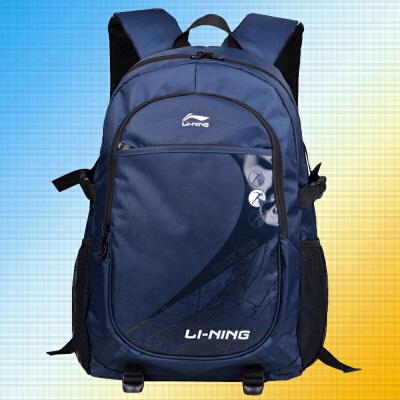 李宁男士背包韩版高中女旅行双肩包男大容量大学生书包休闲电脑包