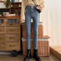 高腰牛仔裤女春装2020新款裤子韩版显瘦修身九分铅笔裤紧身小脚裤