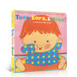 【发顺丰】Karen Katz Toes, Ears, & Nose! A Lift-the-Flap Book 幼儿