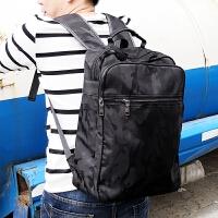 新款简约防水双肩包男韩版学生书包个性迷彩潮流男士电脑背包旅行