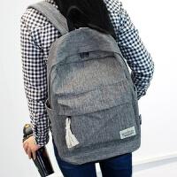 色简约双肩包女韩版书包中学生女学院风旅行背包男电脑包休闲包
