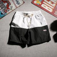 夏季日系休闲短裤男士加肥加大码韩版宽松五分裤潮流沙滩裤男裤子