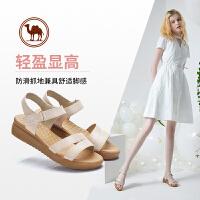 骆驼牌女鞋 夏季新品简约日常休闲鞋女士舒适头层纳帕牛皮女凉鞋