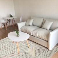 新中式北欧现代简约客厅地毯卧室茶几飘窗垫可机洗房间长方形灰色