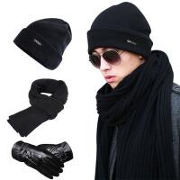 羊毛毛线帽男女帽子冬天针织帽子男士帽子冬保暖潮毛线帽女
