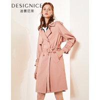 【参考到手价:260元】迪赛尼斯2019春季新款女装外套韩版修身显瘦中长款风衣女长袖