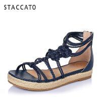 STACCATO/思加图夏季专柜同款PU女凉鞋(编织)9JG02BL6