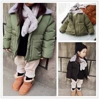 简约时尚 毛翻领短款面包儿童冬装 男女童宝宝加厚保暖外套