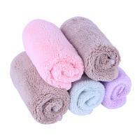 小方巾毛巾正方形洗脸帕加密吸水 5条随机 袋装 20x20cm