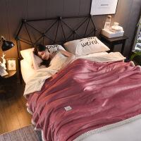小被子午睡冬季加厚珊瑚绒毯子冬季加厚法兰绒毛毯学生单人双人空调被子双层