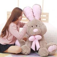 毛绒玩具玩偶流氓兔邦妮兔布娃娃 情侣礼物 灰色 1.3米(送9朵玫瑰花)