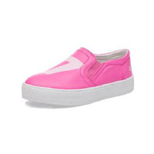 比比我儿童单鞋女韩版男童板鞋2017春季新款一脚蹬女童鞋
