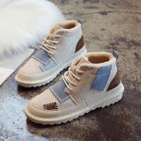 冬季雪地靴女短筒鞋子2018新款韩版百搭学生加绒雪地棉二棉鞋短靴