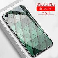 苹果x手机壳iphone6s墨绿色玻璃镜面硬壳xsmax网红女款xs潮男全包xr硅胶防摔7plu
