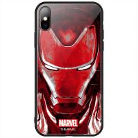复联4 苹果Xs Max手机壳iPhoneX玻璃硅胶XS保护套XR全包防摔个性网红男钢铁侠惊奇队长复