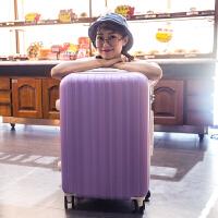 欣尘旅行箱万向轮学生拉杆箱行李箱密码女26寸24寸硬登机箱包拖箱 水晶紫 20寸