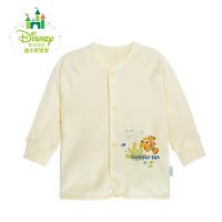 迪士尼Disney 男女宝宝纯棉前开扣肚衣 舒适素色长袖上衣153S680
