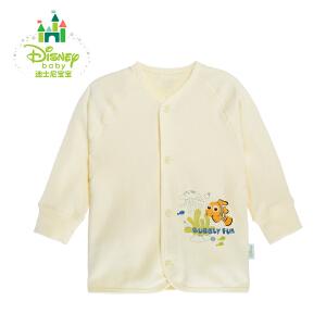 【3件4折】迪士尼Disney 男女宝宝纯棉前开扣肚衣 舒适素色长袖上衣153S680