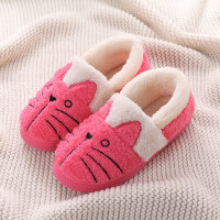 小孩棉拖鞋儿童棉拖鞋男童冬季亲子中大女童棉鞋可爱小孩宝宝拖鞋包跟家居鞋lkf