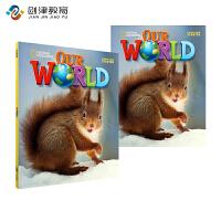 Our World Level 预备级别套装美国国家地理小学英语教材学生用+练习册+音频CD