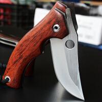 征伐 户外折叠刀 手工天然木柄折叠刀高硬度锋利水果刀户外小刀刀具EDC随身折刀