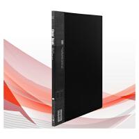 华杰DB1071 /10页皮革纹资料册 A4内袋资料册 文件册 透明插页夹插袋