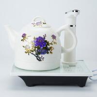 自动上水大容量电茶壶创意陶瓷煮茶器茶道零配变色电热烧水壶