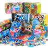 【悦乐朵玩具】儿童早教益智铁盒200片木质拼图拼板拼插玩具3-6岁以上男孩女孩生日礼品礼物六一儿童节礼物