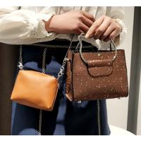 小包2018新款韩版时尚百搭个性亮片猫把手提包可爱链条单肩包