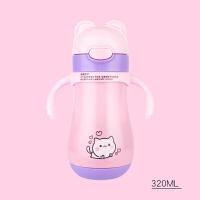 小孩保温杯 婴儿保温杯宝宝奶瓶两用儿童水壶不锈钢防摔带吸管手柄学饮水杯子