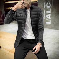 冬季韩版修身青年休闲男士加绒加厚保暖羽绒衬衫衬衣羽绒服外套潮
