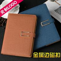 A5商务带扣笔记本加厚本子记事本创意B5办公日记本文具可定制LOGO