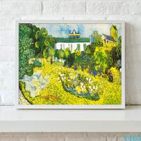 梵高杜比尼花园欧式抽象风景油画客厅装饰画现代简约餐厅挂画壁画