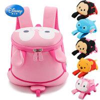 迪士尼幼儿园书包1-3-5岁儿童防走失双肩包男女童背包宝宝米奇包