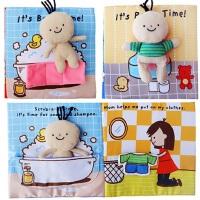 儿童早教婴儿宝宝玩具布书启蒙宝宝玩具洗澡玩具儿童书环保可水洗