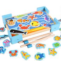 儿童小猫磁性钓鱼玩具10-11个月宝宝益智力玩具1-2-3岁