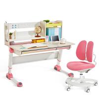 2平米 探索家彩虹版儿童学习桌椅套装 实木桦木桌120cm 儿童书桌 学生书桌 可升降写字桌