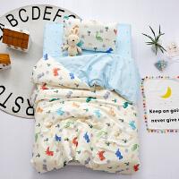 幼儿园被子三件套纯棉宝宝午睡套装纯棉A类60支宝宝幼儿园被子三件套含芯午睡入园被褥床品套装 组合七 棉花子母款七件套