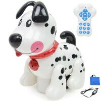 智能电子宠物遥控狗 可充电斑点狗 触摸感应 电动小狗儿童玩具 图片色