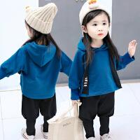 儿童女宝宝春秋装套装女小童洋气0两件套2婴儿4衣服1-3周岁韩版潮yly