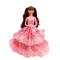 芭芘比娃娃长发公主女童玩具单个礼盒女孩洋娃娃生日礼物 娃娃为12关节30厘米高有赠品