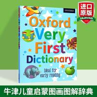 牛津儿童英语启蒙图画图解辞典 英文原版 Oxford Very First Dictionary 英英字词典 英文版进