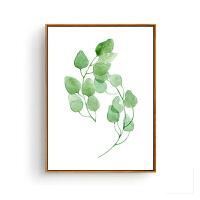 北欧装饰画客厅现代简约壁画家居小清新挂画餐厅卧室墙画植物叶子