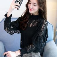 初秋女装2018新款韩版长袖蕾丝打底衫气质早秋上衣