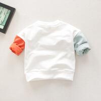 男童卫衣圆领婴儿打底衫棉男宝宝休闲t恤儿童上衣春季新款童装