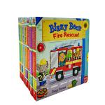 进口英文原版绘本 Bizzy Bear 7册 小熊很忙系列 玩具机关操作书 浅蓝色